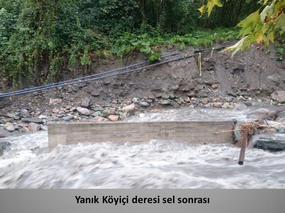 Yanık Köyiçi deresi sel sonrası