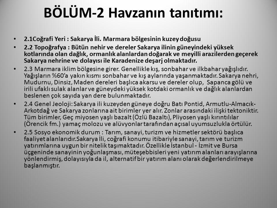 BÖLÜM-2 Havzanın tanıtımı: