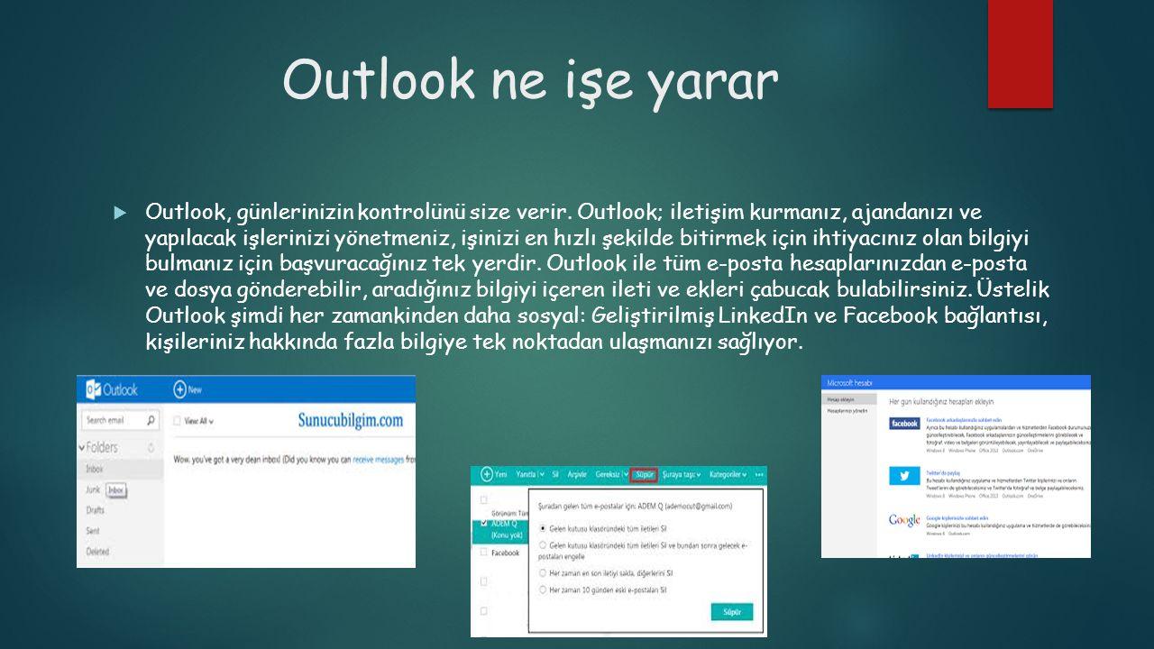 Outlook ne işe yarar