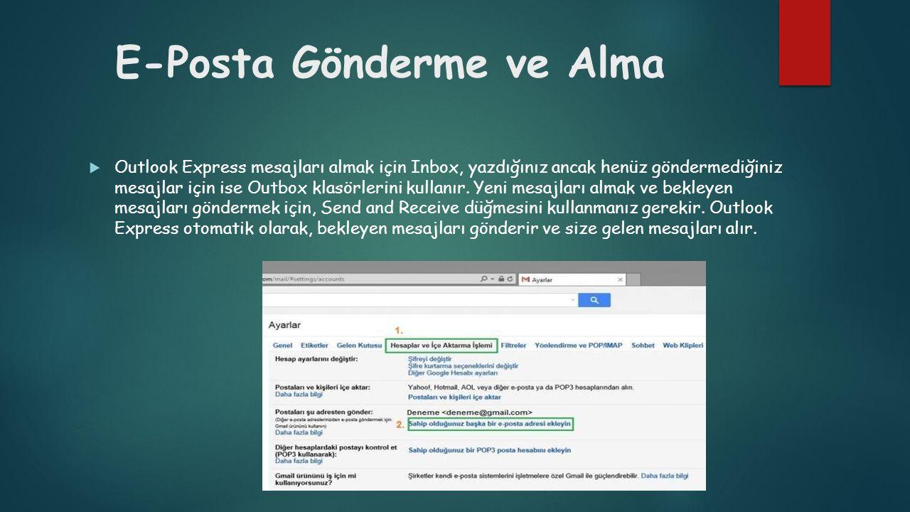 E-Posta Gönderme ve Alma