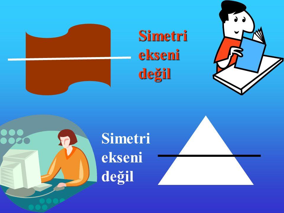 Simetri ekseni değil Simetri ekseni değil