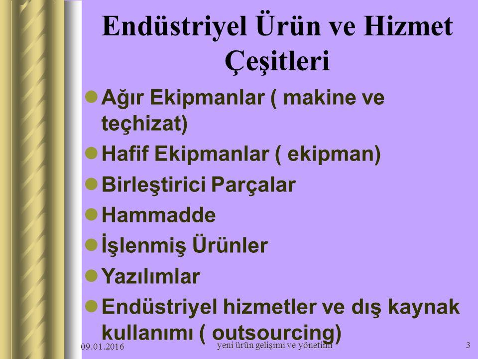 Endüstriyel Ürün ve Hizmet Çeşitleri
