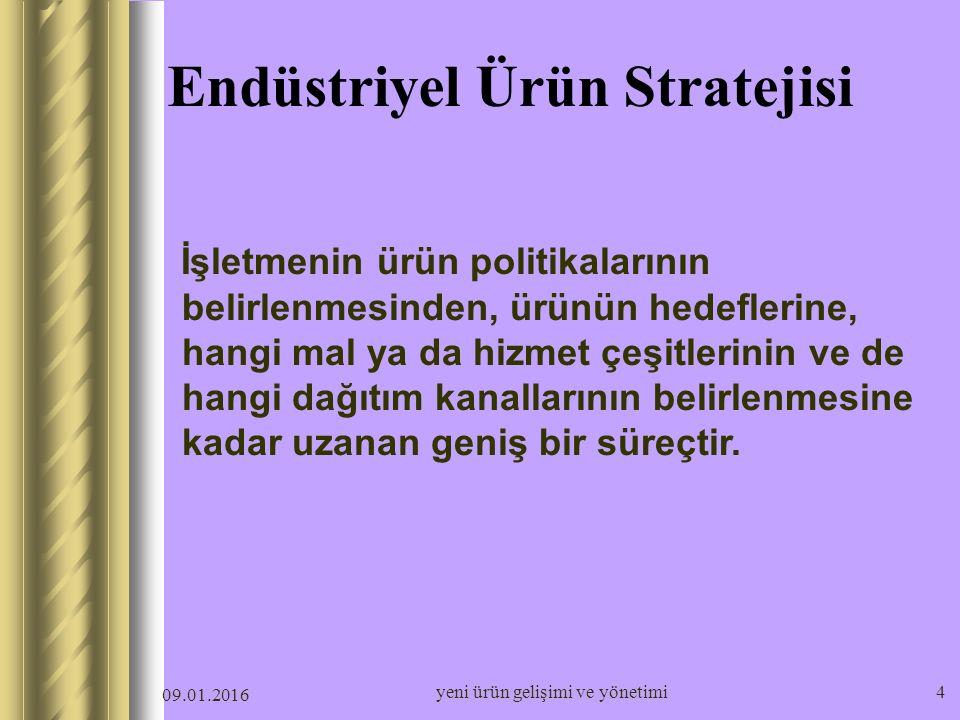 Endüstriyel Ürün Stratejisi