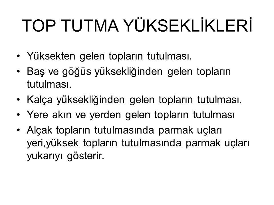 TOP TUTMA YÜKSEKLİKLERİ