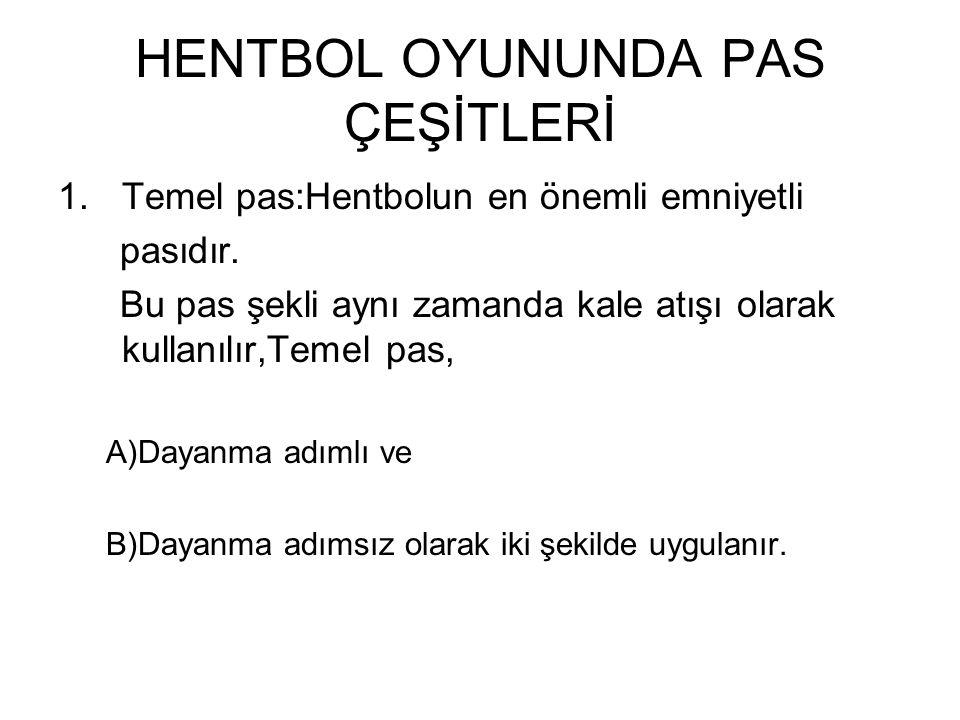 HENTBOL OYUNUNDA PAS ÇEŞİTLERİ