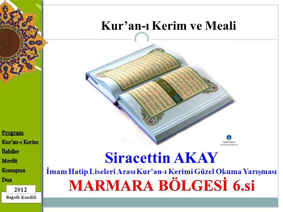 Siracettin AKAY MARMARA BÖLGESİ 6.si
