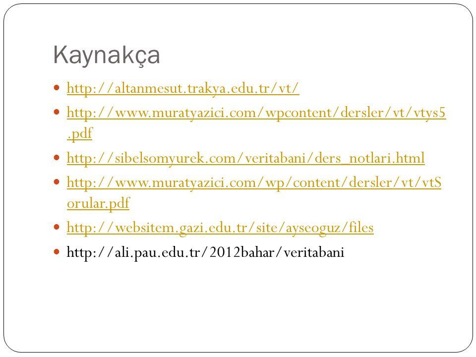 Kaynakça http://altanmesut.trakya.edu.tr/vt/