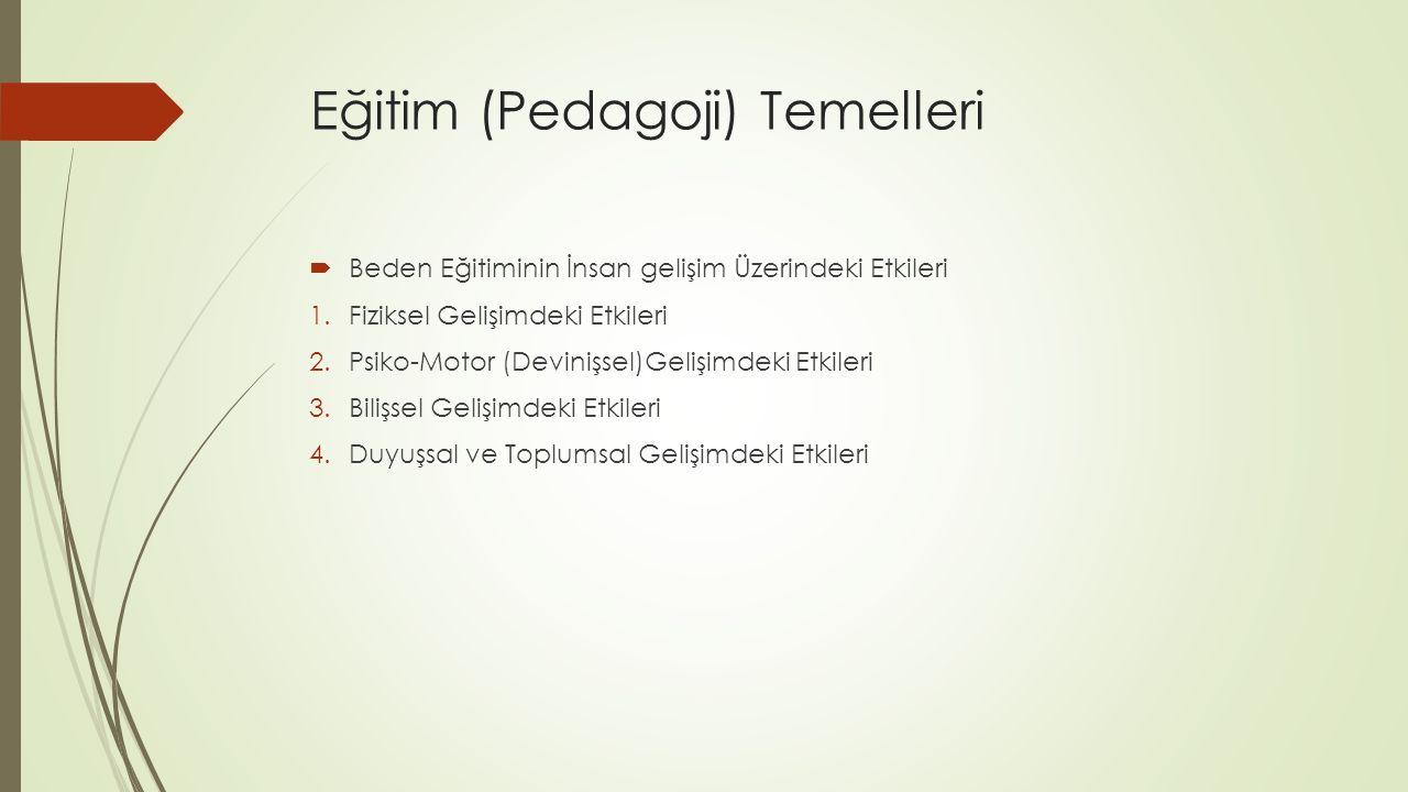 Eğitim (Pedagoji) Temelleri