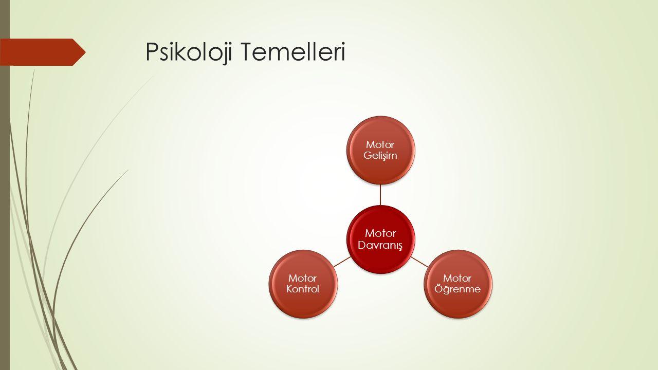 Psikoloji Temelleri Motor Davranış Motor Gelişim Motor Öğrenme