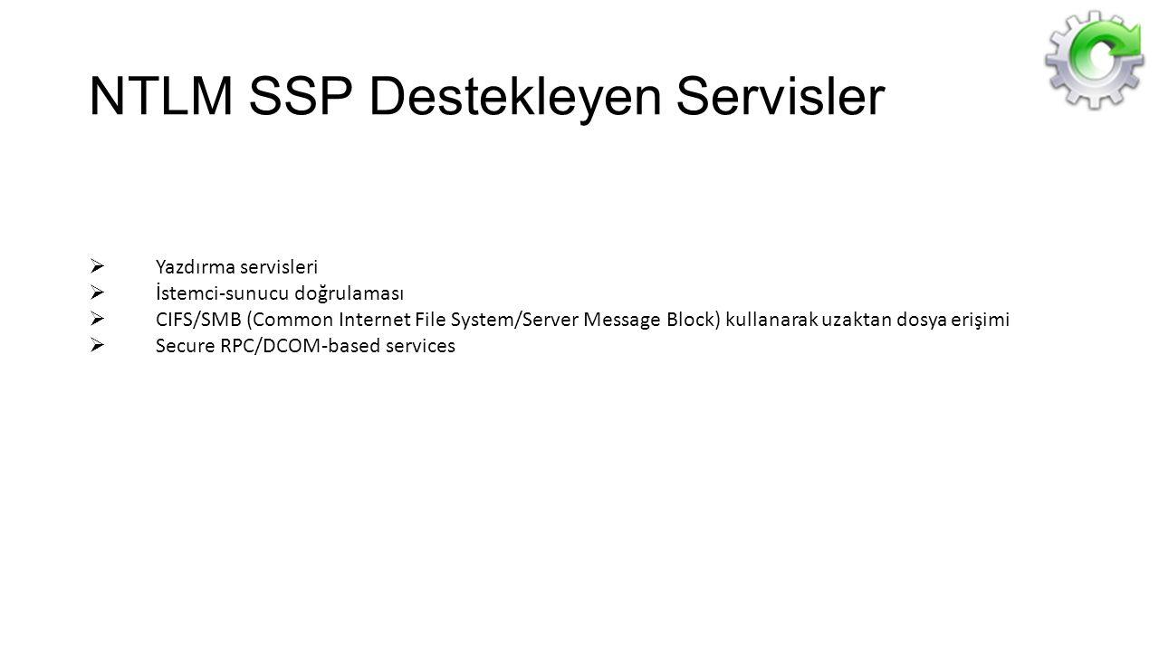 NTLM SSP Destekleyen Servisler