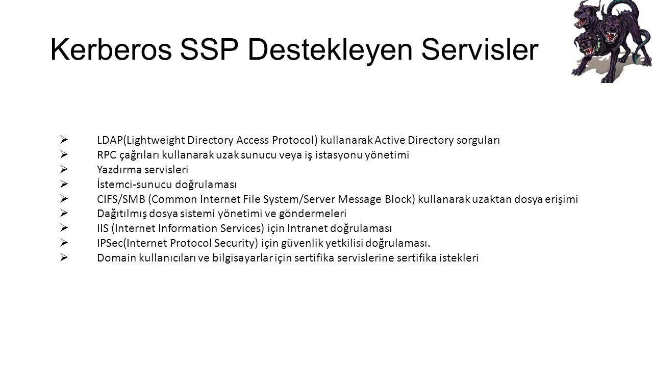 Kerberos SSP Destekleyen Servisler