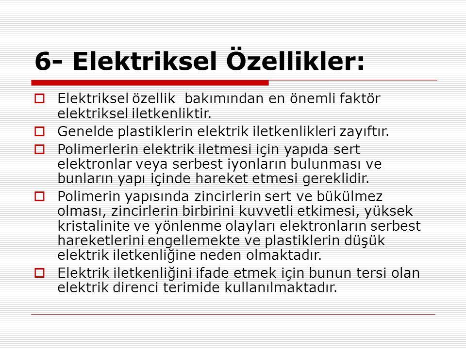 6- Elektriksel Özellikler: