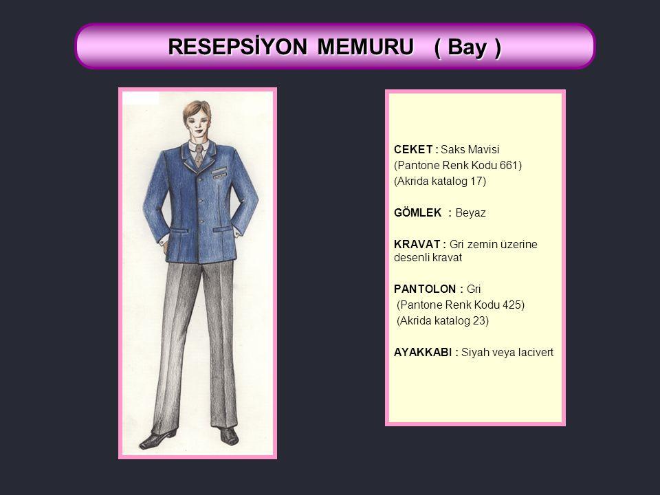 RESEPSİYON MEMURU ( Bay )