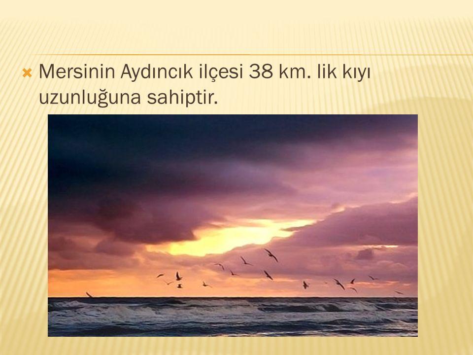 Mersinin Aydıncık ilçesi 38 km. lik kıyı uzunluğuna sahiptir.
