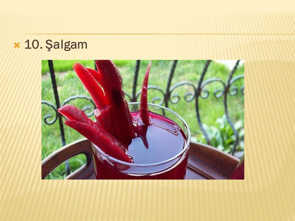 10. Şalgam