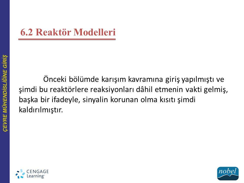 6.2 Reaktör Modelleri