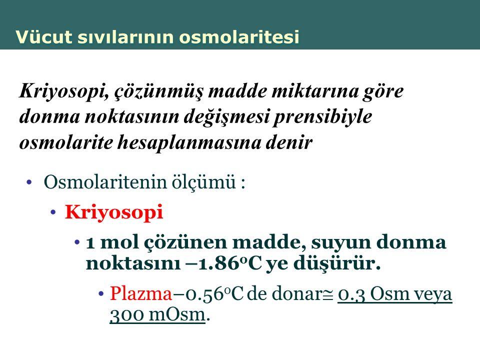 Vücut sıvılarının osmolaritesi
