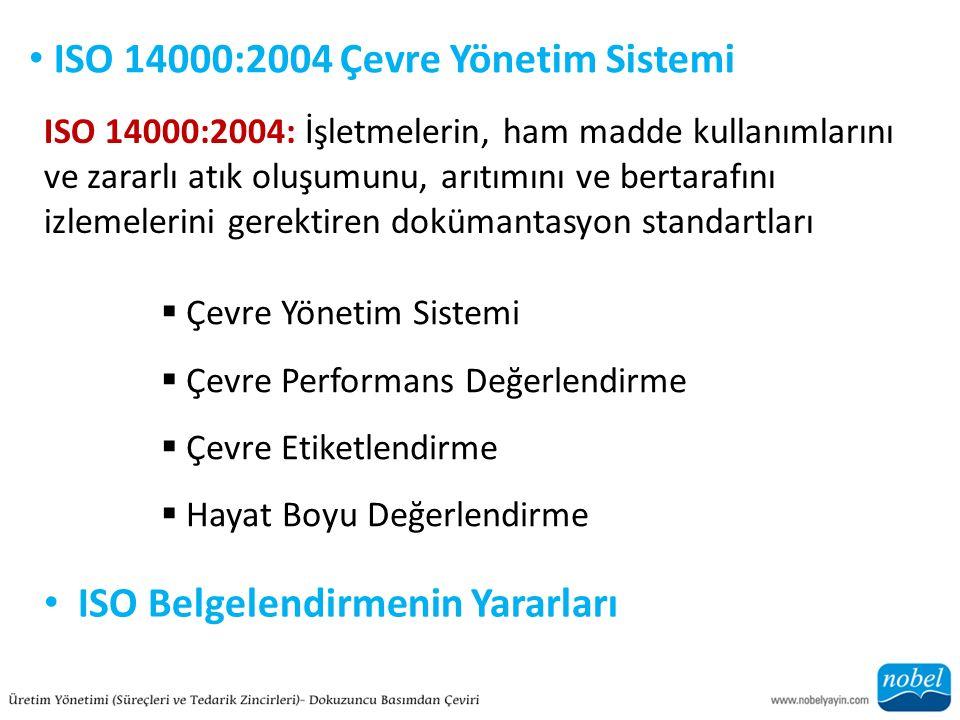 ISO 14000:2004 Çevre Yönetim Sistemi