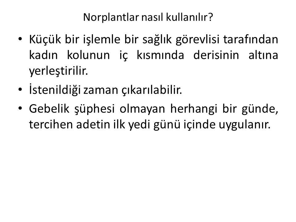 Norplantlar nasıl kullanılır