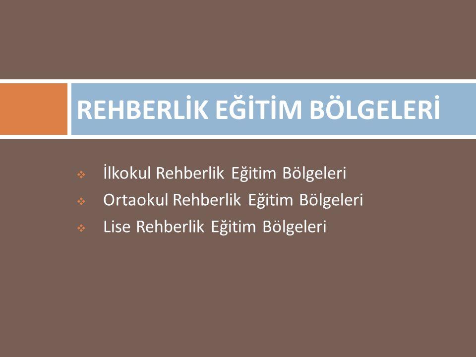REHBERLİK EĞİTİM BÖLGELERİ