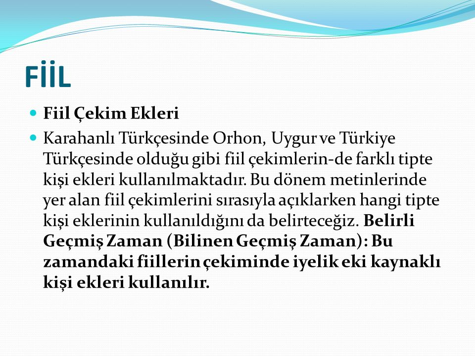 FİİL Fiil Çekim Ekleri.