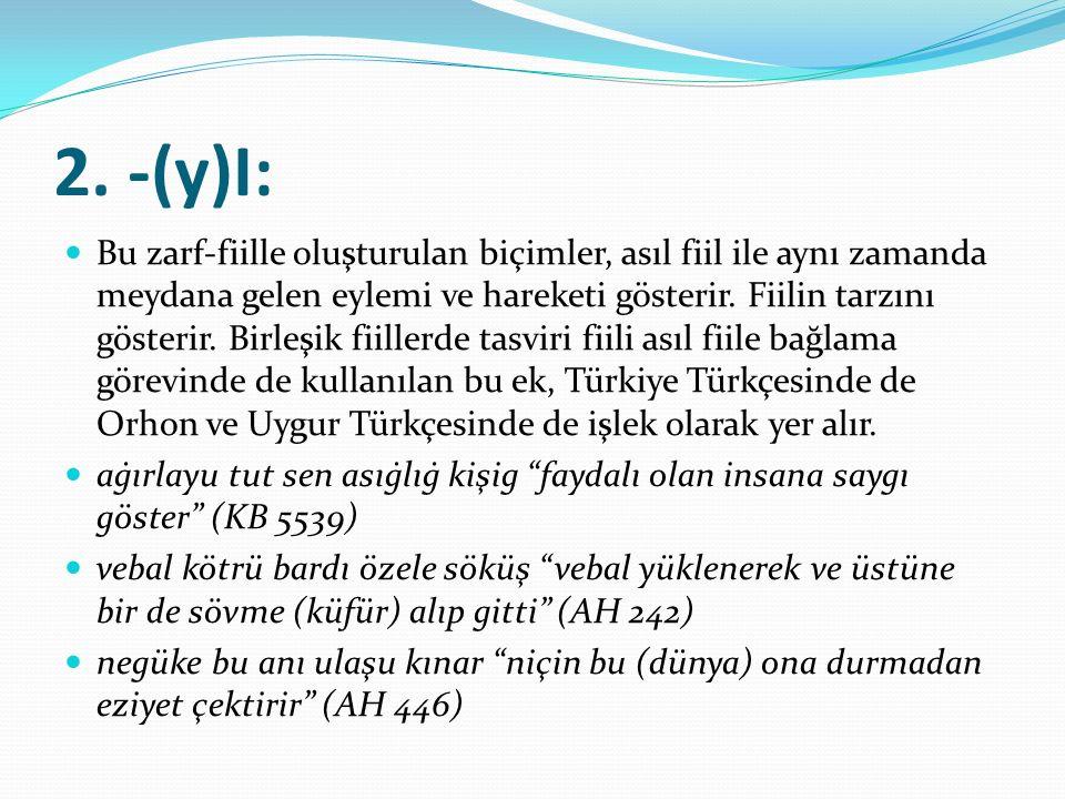2. -(y)I: