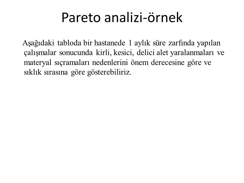 Pareto analizi-örnek