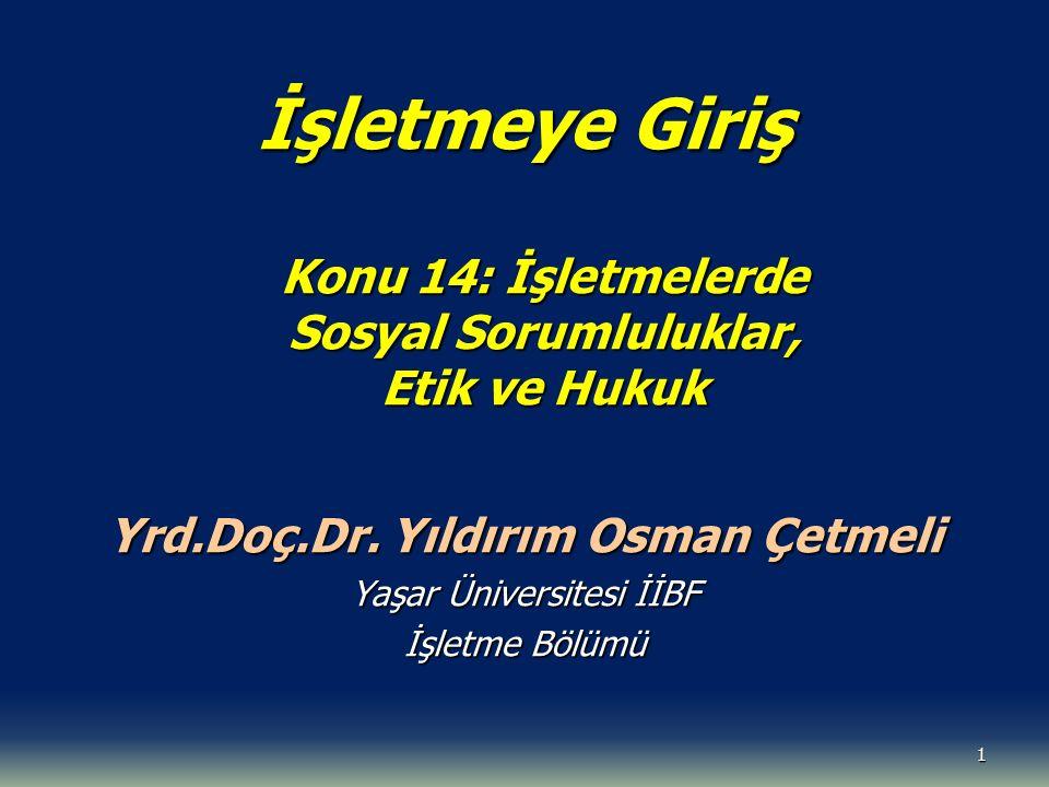 Yrd.Doç.Dr. Yıldırım Osman Çetmeli