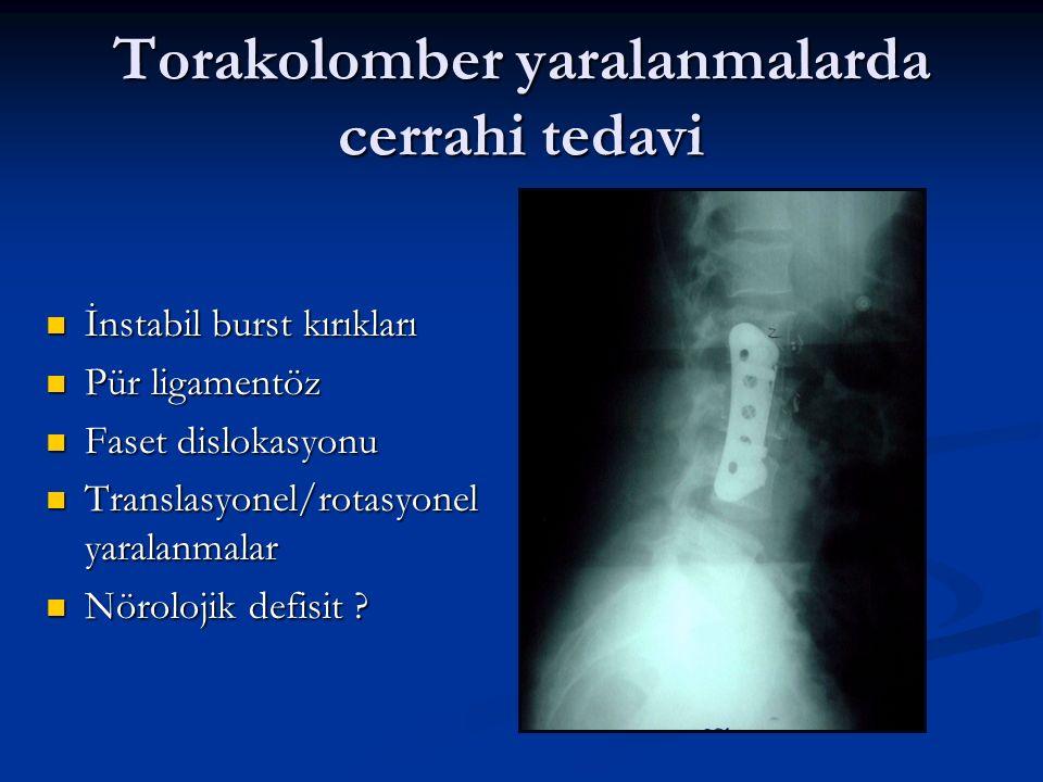 Torakolomber yaralanmalarda cerrahi tedavi