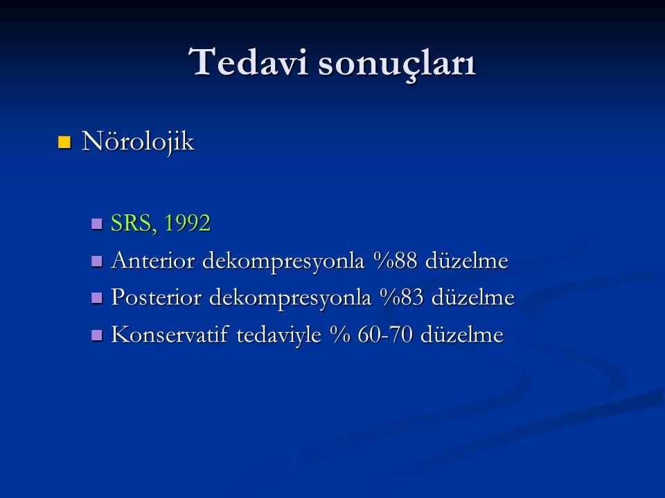 Tedavi sonuçları Nörolojik SRS, 1992