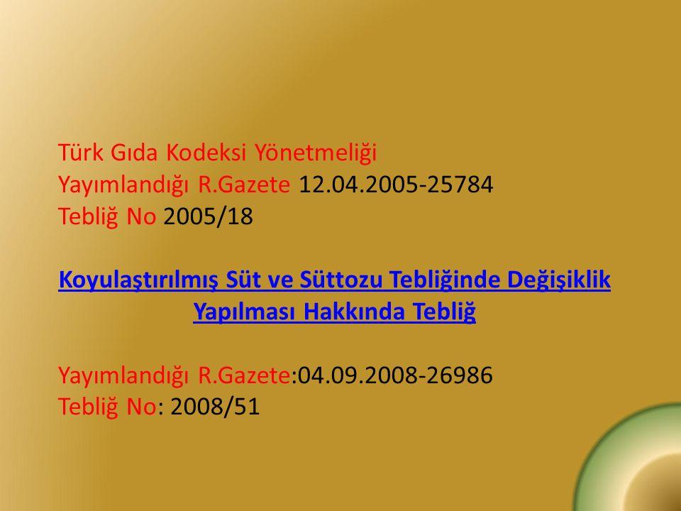 Türk Gıda Kodeksi Yönetmeliği