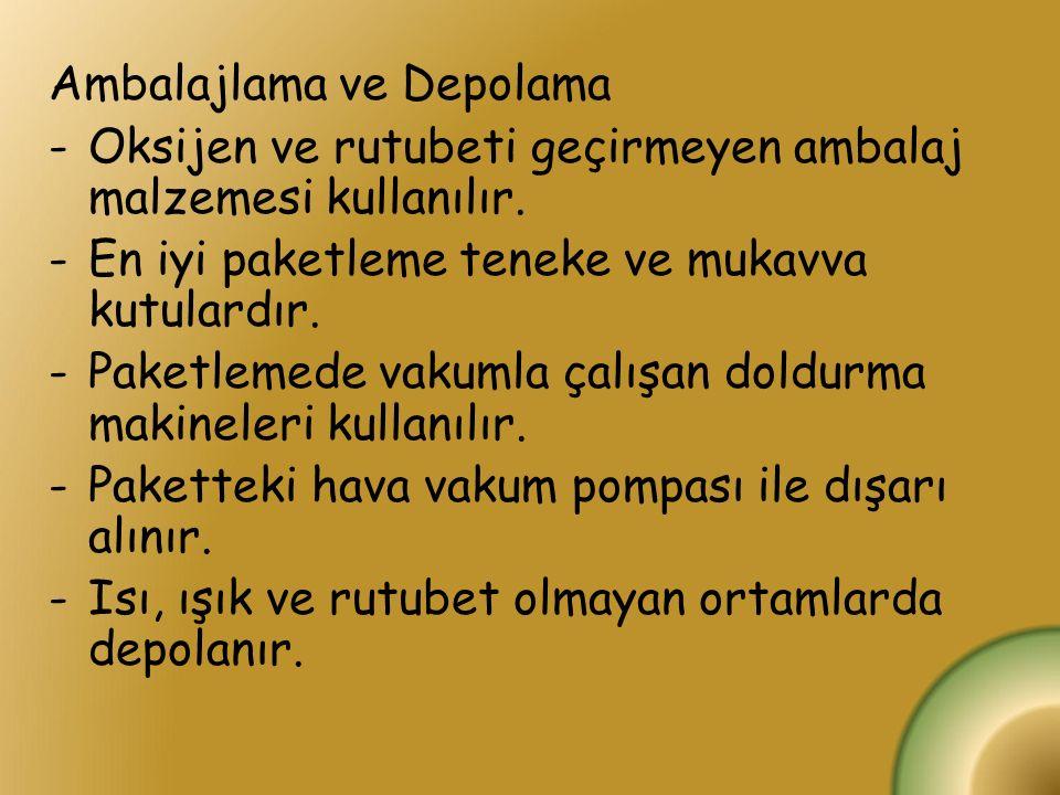 Ambalajlama ve Depolama