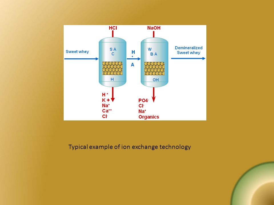 Typical example of ion exchange technology
