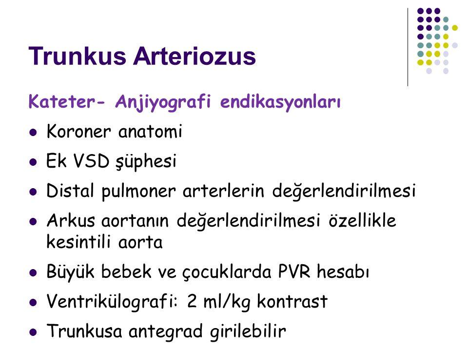 Trunkus Arteriozus Kateter- Anjiyografi endikasyonları Koroner anatomi