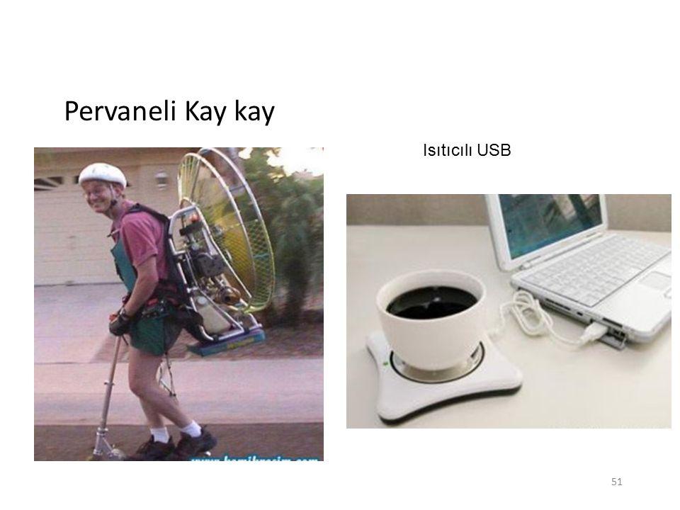 Pervaneli Kay kay Isıtıcılı USB