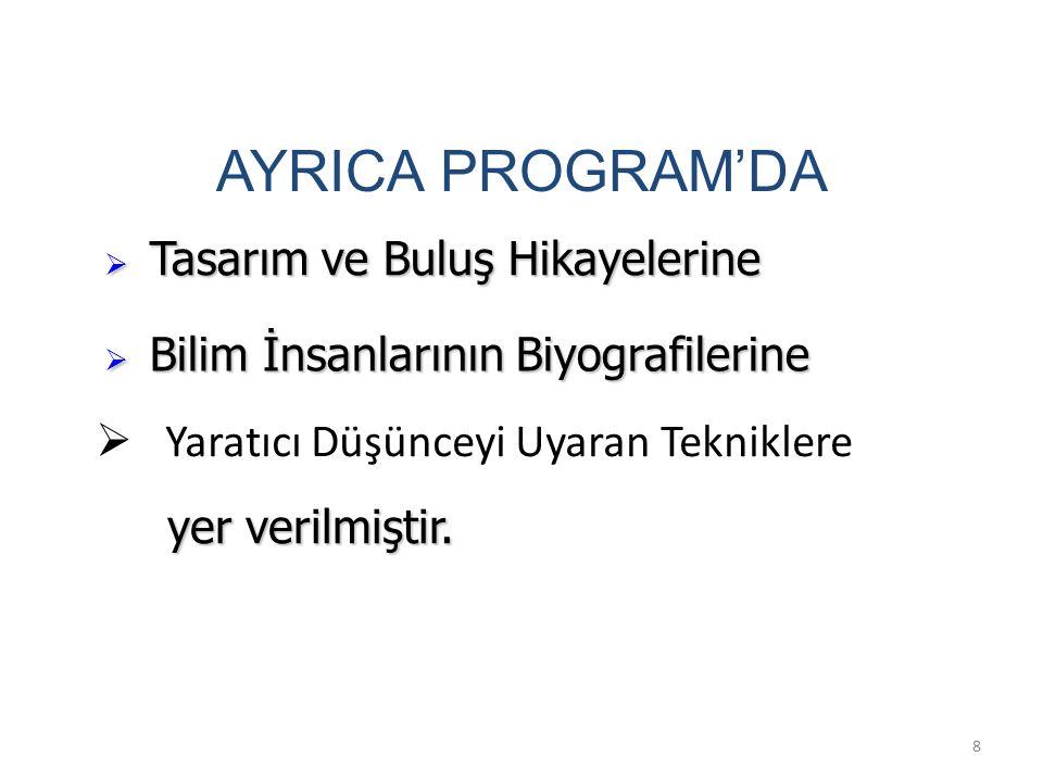 AYRICA PROGRAM'DA Tasarım ve Buluş Hikayelerine