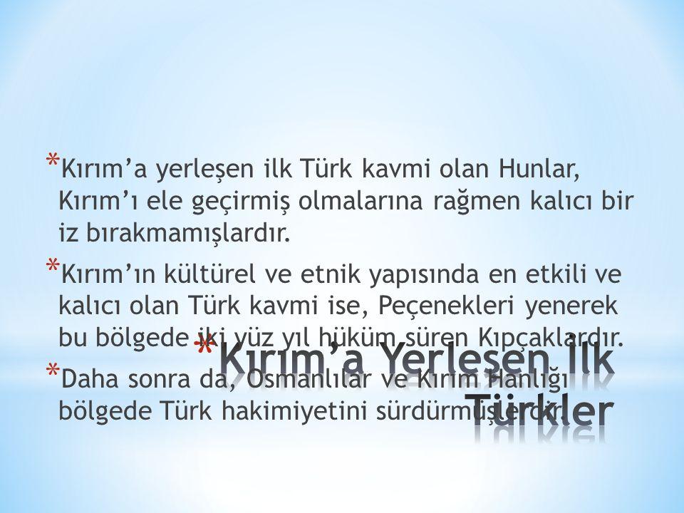 Kırım'a Yerleşen İlk Türkler