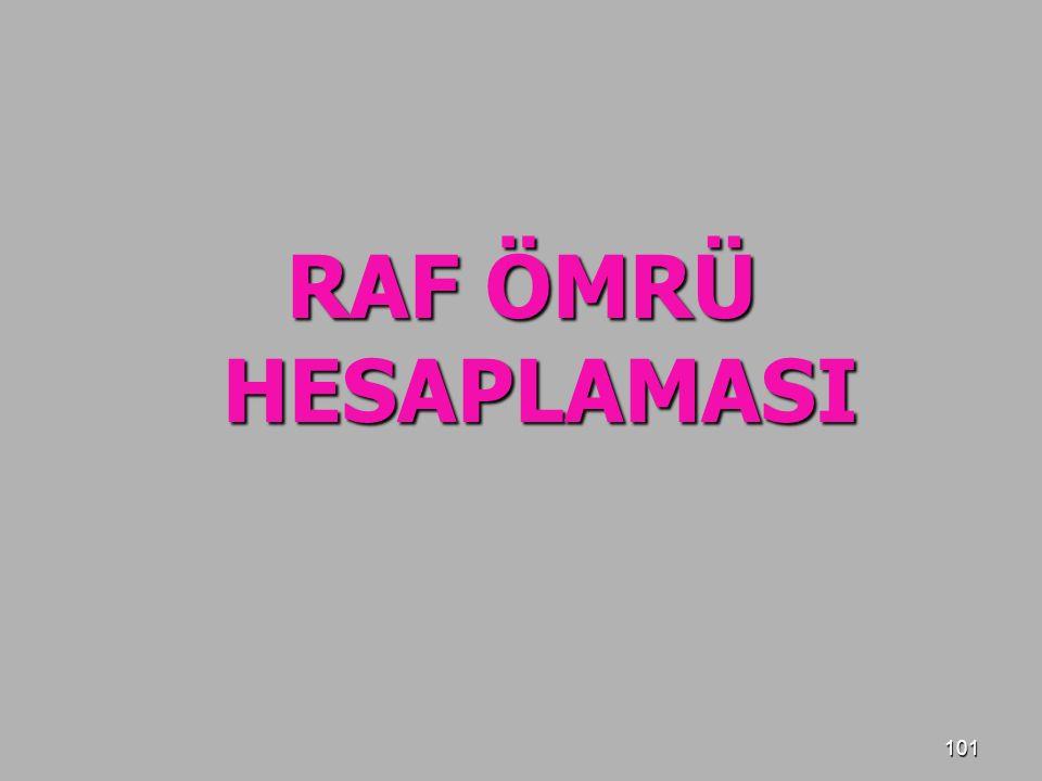 RAF ÖMRÜ HESAPLAMASI