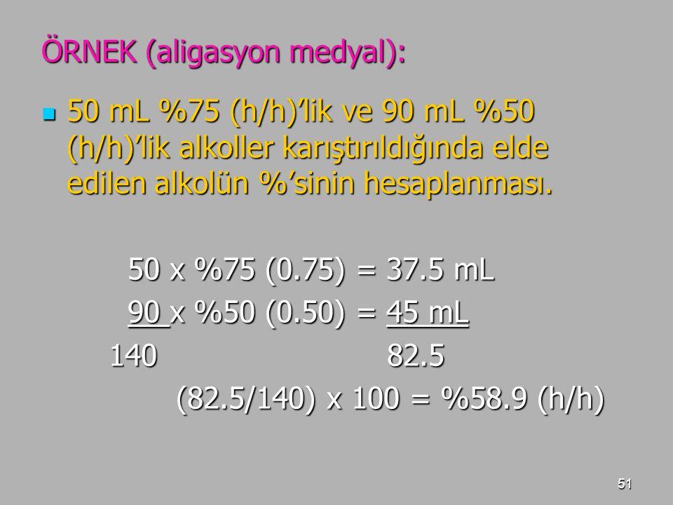 ÖRNEK (aligasyon medyal):