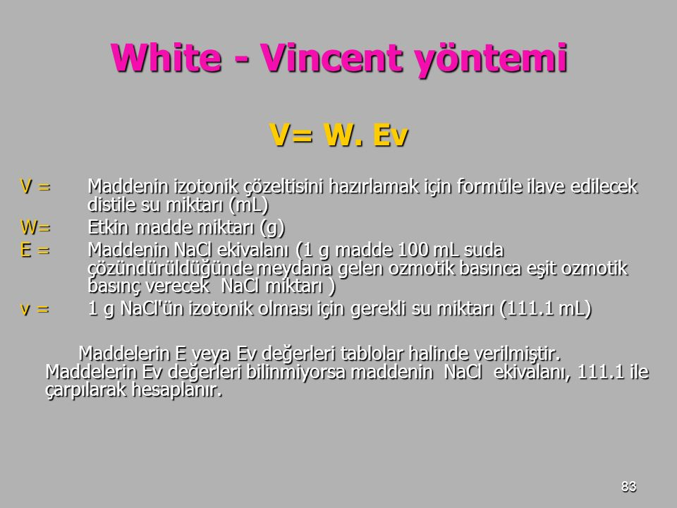 White - Vincent yöntemi
