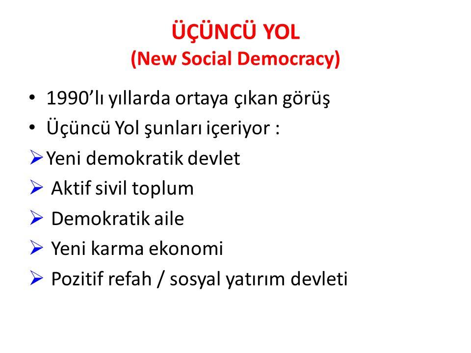 ÜÇÜNCÜ YOL (New Social Democracy)