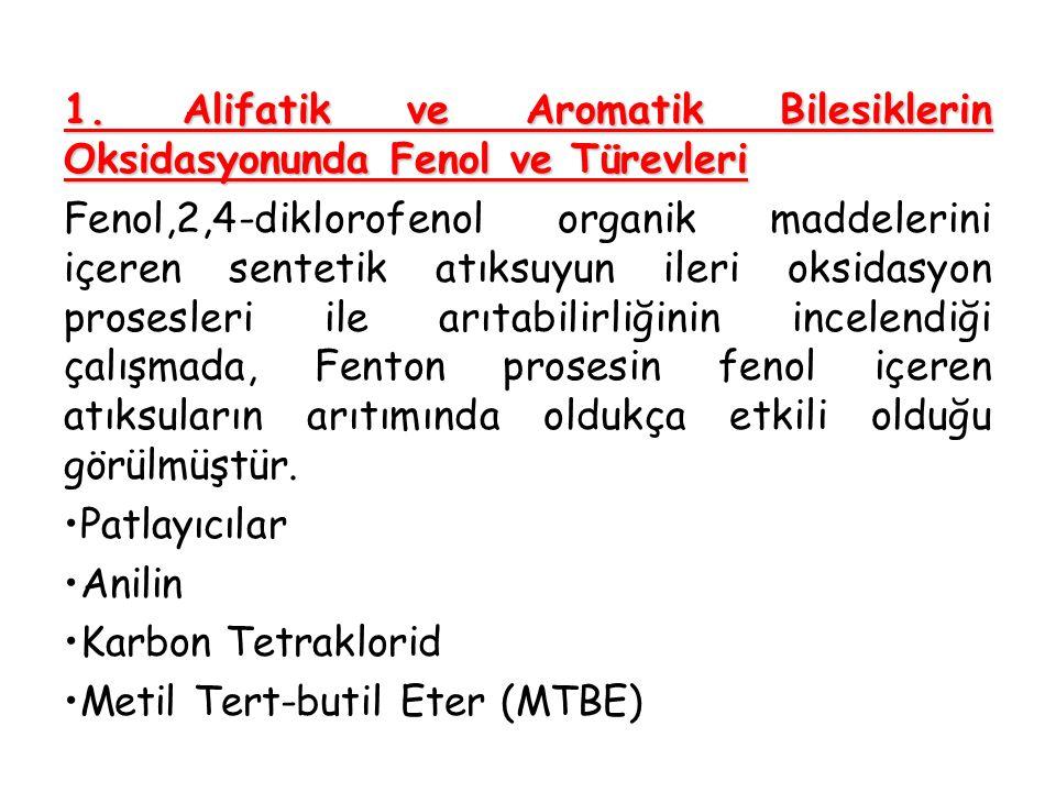1. Alifatik ve Aromatik Bilesiklerin Oksidasyonunda Fenol ve Türevleri