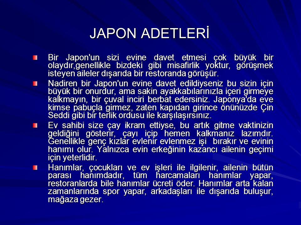 JAPON ADETLERİ