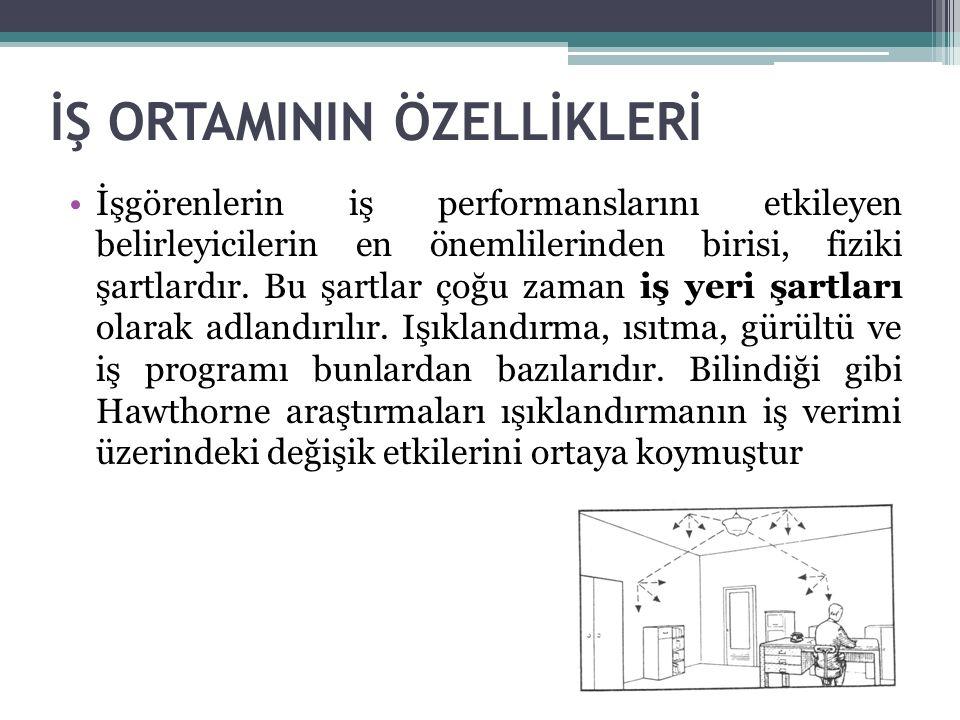 İŞ ORTAMININ ÖZELLİKLERİ