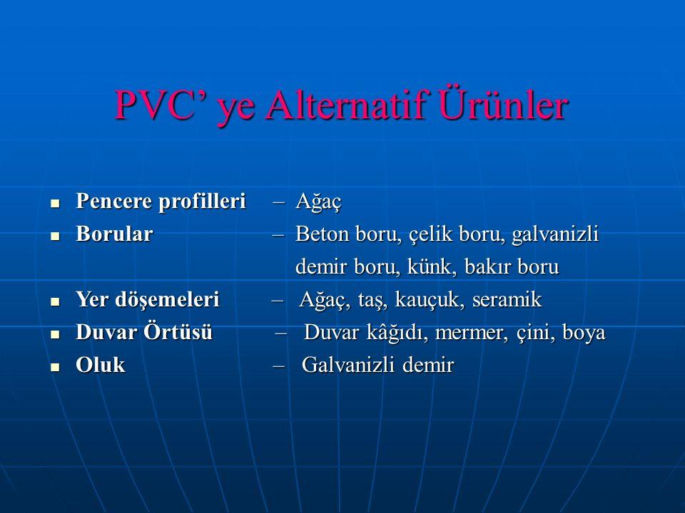 PVC' ye Alternatif Ürünler