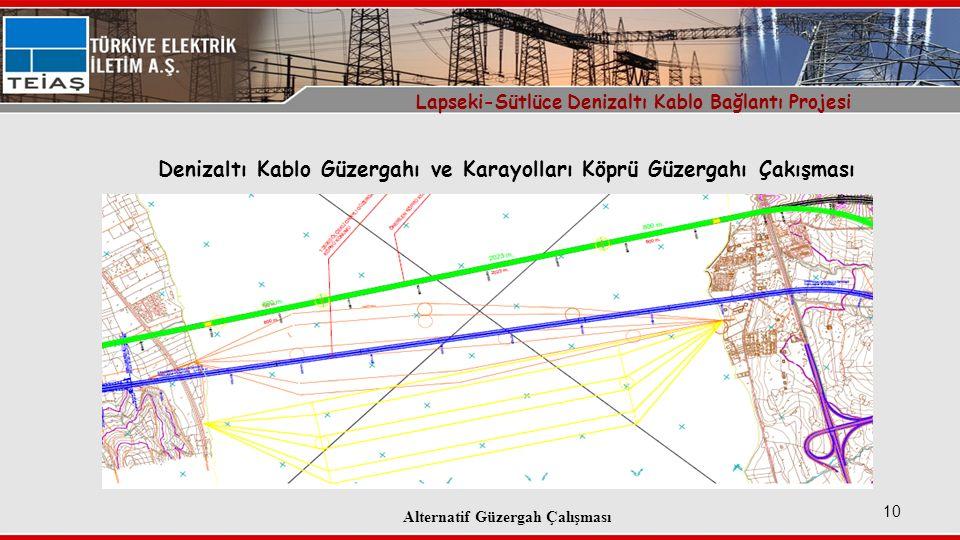 Denizaltı Kablo Güzergahı ve Karayolları Köprü Güzergahı Çakışması