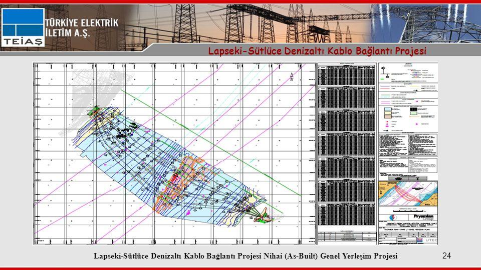 Lapseki-Sütlüce Denizaltı Kablo Bağlantı Projesi