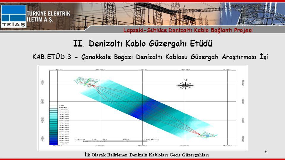 II. Denizaltı Kablo Güzergahı Etüdü