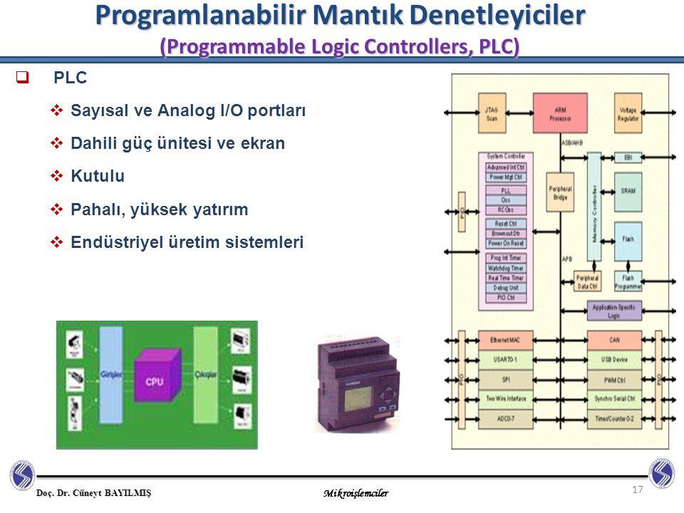 Programlanabilir Mantık Denetleyiciler (Programmable Logic Controllers, PLC)