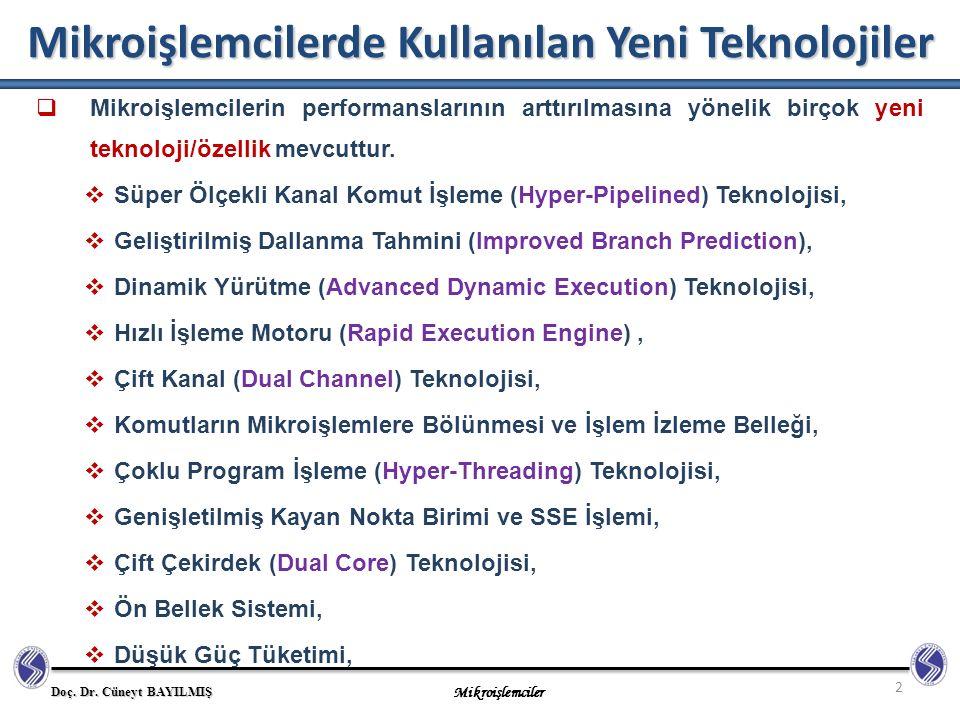 Mikroişlemcilerde Kullanılan Yeni Teknolojiler